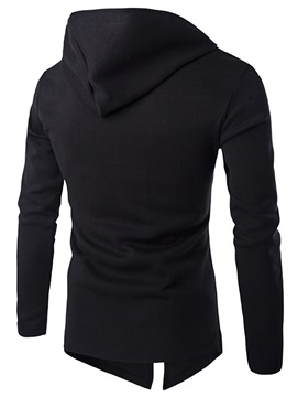 Oblique Zippered Men's Hoodie