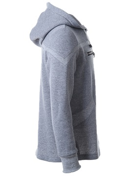 Casual Cotton Blends Chest Zip Men's Hoodie