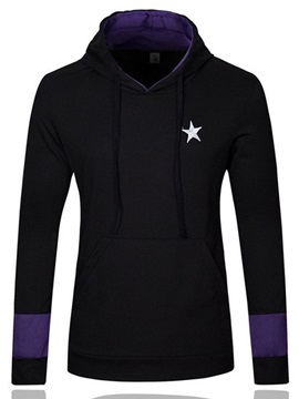 Star Print Casual Men's Cotton Blends Hoodie