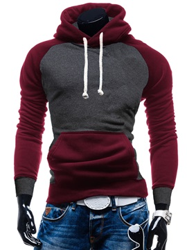 Patchwork Pockets Men's Casual Hoodie