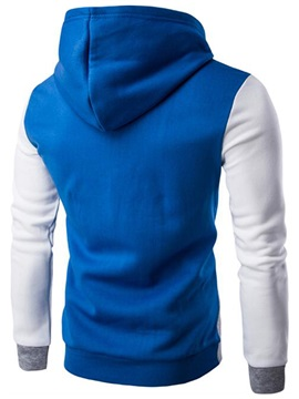 Patchwork Casual Men's Simple Cotton Blends Hoodie