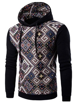 Unique Print Causal Men's Loose Fit Hoodie