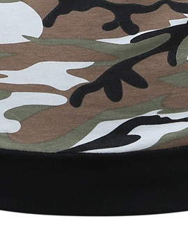Camouflage Patch Chest Pocket Men's Hoodie
