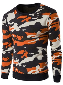 Camouflage Round Neck Men's Casual Hoodie