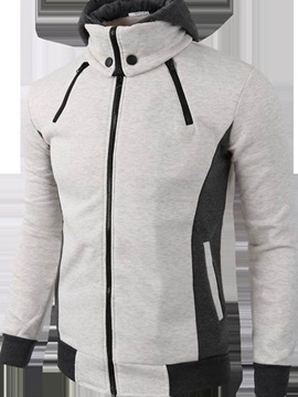 Sportwear Fake Two Pieces Slim Men's Hoodies