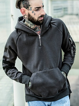 Solid Color Creative Leisure Men's Hoodies