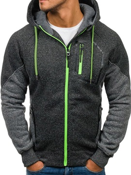 Tidebuy Hooded Patchwork  Long Sleeve Men's Hoodie
