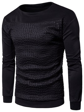 Tidebuy Round Neck Slim Long Sleeve Men's Hoodie
