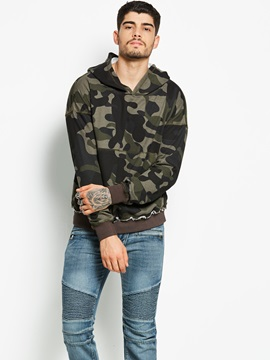 Camouflage Hooded Pocket Men's Pullover Hoodie