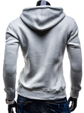 Lace-Up Hooded Pocket Men's Pullover Hoodie