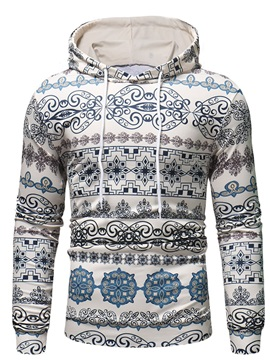 Geometric Hooded Men's Casual Hoodie