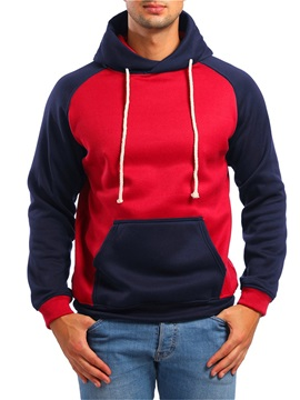 Patchwork Color Block Hooded Men's Hoodie