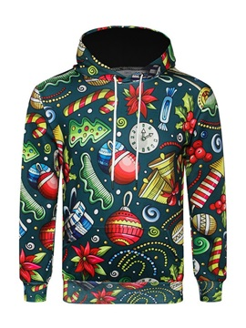 Christmas Print Hooded Men's Hoodie