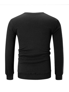 Plain Pullover Round Neck Slim Fit Men's Hoodie