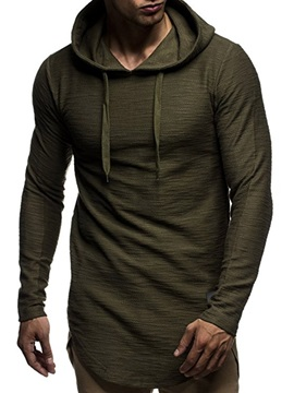 Hooded Pullover Plain Casual Men's Hoodie