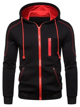 Cardigan Zipper Color Block Men's Hoodie