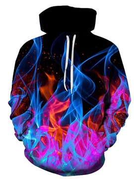 Hooded Pullover Color Block 3D Print Men's Hoodie