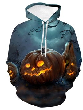 Print Pullover Color Block Men's Halloween Costume Hoodies