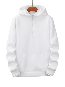 Pullover Zipper Plain Men's Hoodies