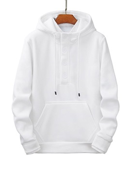 Pullover Pocket Plain Loose Men's Hoodies