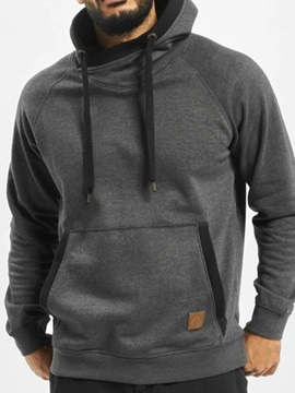 Pocket Thick Color Block Pullover Men's Hoodies