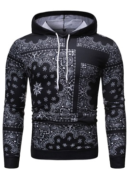 Pullover Color Block Print Men's Hoodies