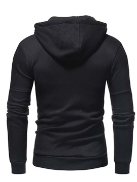 Zipper Plain Cardigan Casual Men's Hoodies