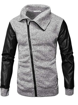 Color Block Cardigan Zipper Men's Hoodies