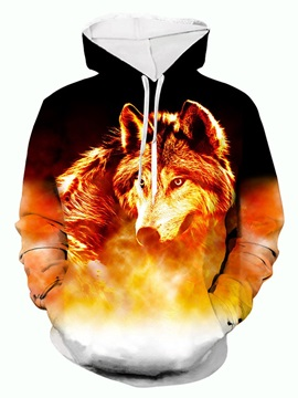 Animal Pullover Pocket Men's Hoodies