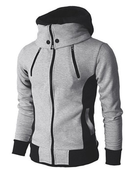 Color Block Patchwork Thick Pullover Style Men's Hoodies