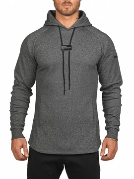Plain Color Loose Style Men's Hoodies