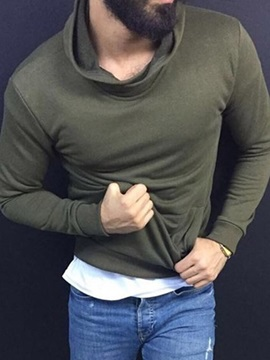 Thick Style Plain Casual Men's Hoodies
