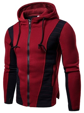 Zipper Cardigan Color Block Fashion Men's Hoodies