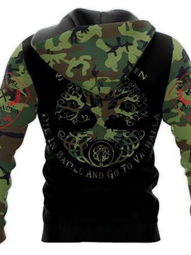 Pullover Camouflage Print Thick Spring Men's Hoodies