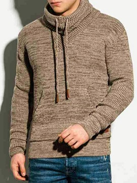 Pullover Lace-Up Plain Casual Men's Hoodies