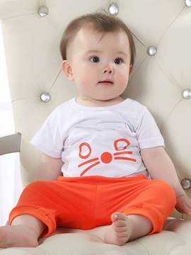 Baby's Cat-Print Tee & Pants Set