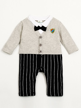 Warm Soft Bow-Tie Cotton Baby Clothing