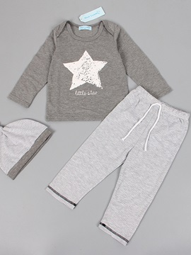 Simple Five-Pointed Star T-Shirt & Plain Pant