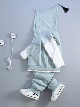 Simple Cartoon Loose-Fit Baby's 3-Piece Outfit