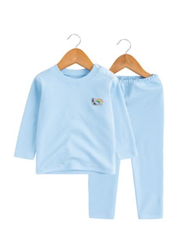 Candy Color Buttoned Baby's 2-Piece Outfit