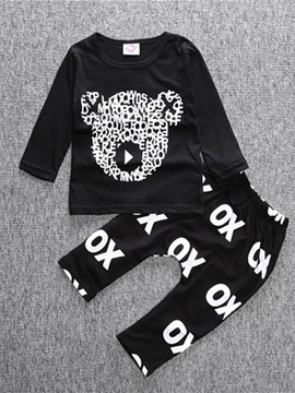 Comfort Printing Boy's 2-Piece Outfit