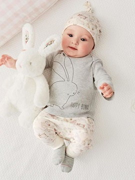 Pure Cotton Home Wear Baby's 3-Piece Outfit