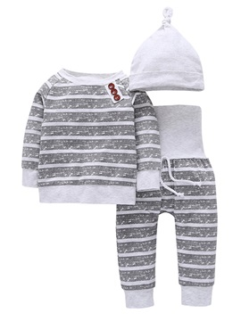 Cotton Stripe Baby's 3-Piece Outfit