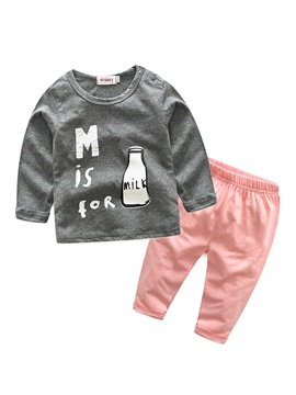 Cute Feeding Bottle Baby's 2-Piece Outfit