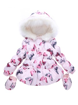 Butterfly Pattern Girl's Coat