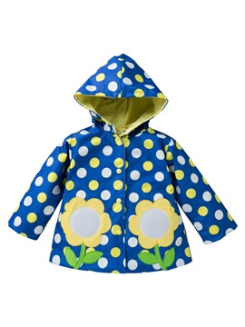 Polka Dots Mid-Length Lovely Girl's Trench Coat