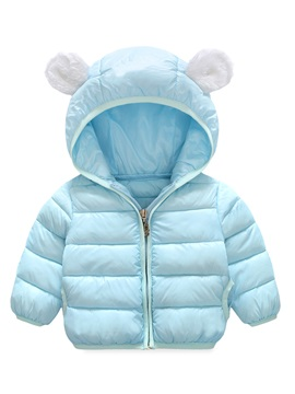 Little Ear Hoodie Plain Baby Boys And Girls Cotton Coat