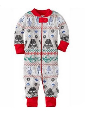Christmas Print Color Block Long Sleeve Unisex Baby's Jumpsuits