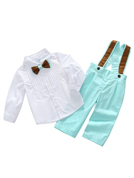 Bowknot Shirt with Overalls Baby Boys' Outfit