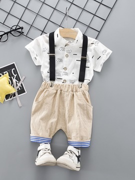 Cartoon Print Shirt Overall Baby's Suit